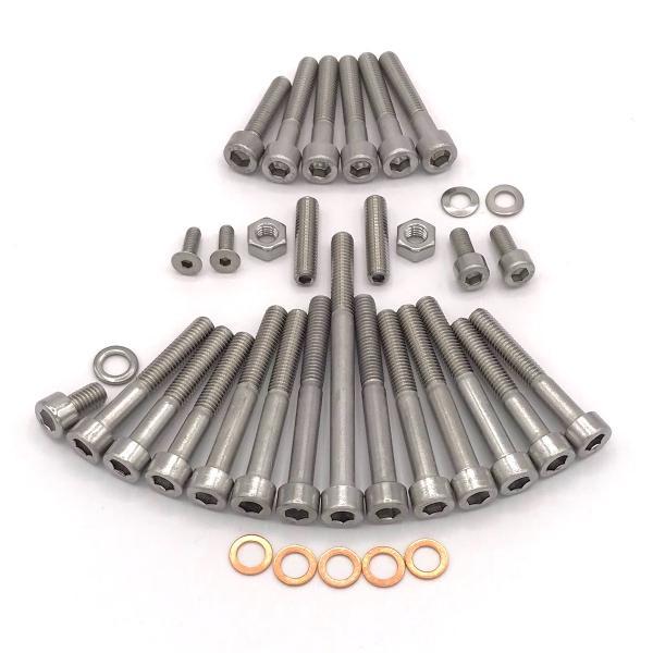 Edelstahl Zylinder-Schraube rostfrei V2A M4-mm stark 60-mm Schrauben-L/änge 50 St/ück 20-mm Teil-Gewinde Innensechskant M4x60